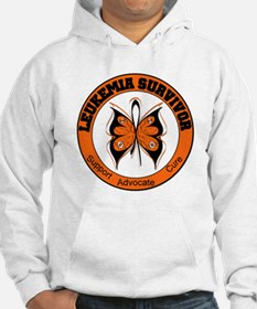 Leukemia Survivor Butterfly Hoodie Sweatshirt