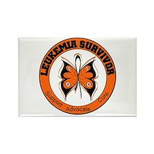 Leukemia Survivor Butterfly Rectangle Magnet (10 p
