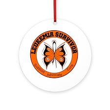 Leukemia Survivor Butterfly Ornament (Round)