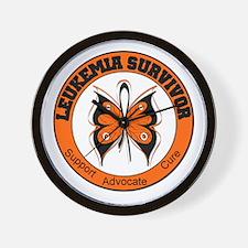 Leukemia Survivor Butterfly Wall Clock