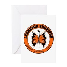 Leukemia Survivor Butterfly Greeting Card