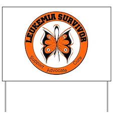 Leukemia Survivor Butterfly Yard Sign