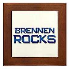 brennen rocks Framed Tile
