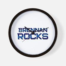 brennan rocks Wall Clock