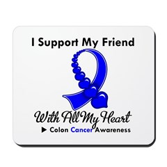 ColonCancerHeart Friend Mousepad