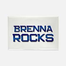 brenna rocks Rectangle Magnet