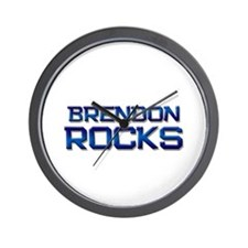 brendon rocks Wall Clock
