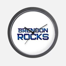 brendon rocks Wall Clock