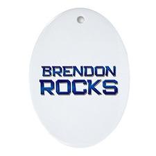 brendon rocks Oval Ornament