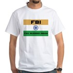 India FBI full blooded Indian White T-Shirt