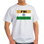 India FBI full blooded Indian Ash Grey T-Shirt