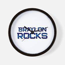 braylon rocks Wall Clock