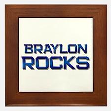 braylon rocks Framed Tile