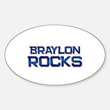 braylon rocks Oval Decal