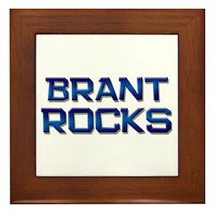 brant rocks Framed Tile