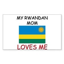 My Rwandan Mom Loves Me Rectangle Decal