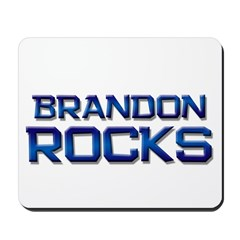 brandon rocks Mousepad