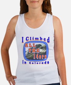 I climbed all the 14ers in Co Women's Tank Top