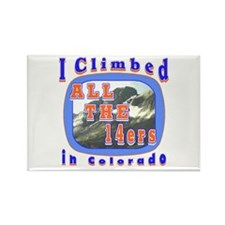 I climbed all the 14ers in Co Rectangle Magnet