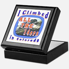 I climbed all the 14ers in Co Keepsake Box