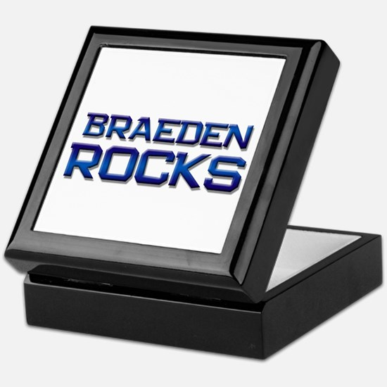 braeden rocks Keepsake Box