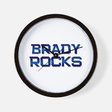 brady rocks Wall Clock