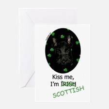 Kiss Me Scottie Pup Greeting Card