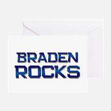 braden rocks Greeting Card