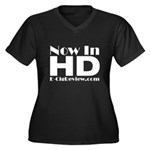 HD Women's Plus Size V-Neck Dark T-Shirt