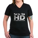 HD Women's V-Neck Dark T-Shirt