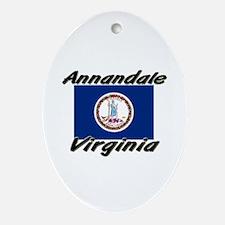 Annandale virginia Oval Ornament