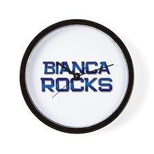 bianca rocks Wall Clock