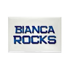 bianca rocks Rectangle Magnet