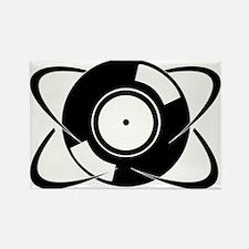 Record Atom Rectangle Magnet