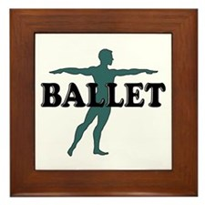 Male Ballet Silhouette Framed Tile