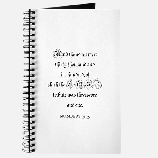 NUMBERS 31:39 Journal