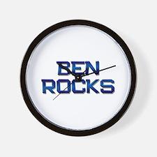ben rocks Wall Clock