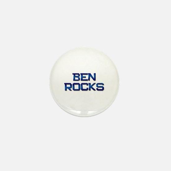 ben rocks Mini Button