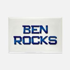 ben rocks Rectangle Magnet