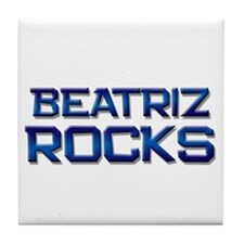 beatriz rocks Tile Coaster