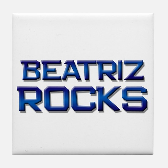 beatriz rocks Tile Coaster
