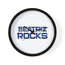 beatriz rocks Wall Clock