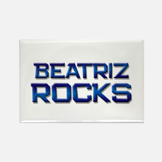 beatriz rocks Rectangle Magnet
