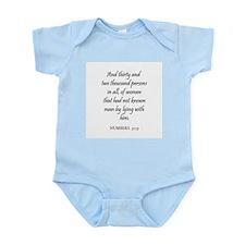 NUMBERS  31:35 Infant Creeper