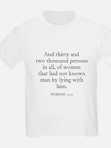 NUMBERS  31:35 Kids T-Shirt