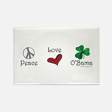 oddFrogg Peace Love O'Bama Rectangle Magnet
