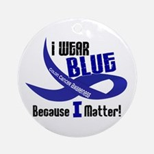 I Wear Blue For ME 33 CC Ornament (Round)