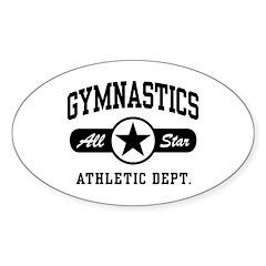Gymnastics Oval Sticker (10 pk)