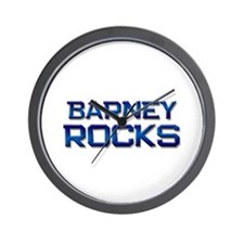 barney rocks Wall Clock