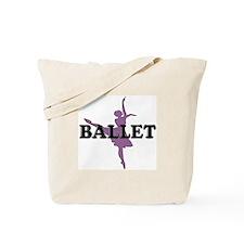 Female Ballet Silhouette Tote Bag